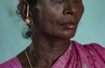 India, Tamil Nadu, May 2018. Rasathi, 56, the wife of Selvarasy, 65, a farmer who committed suicide on May 2017 by hanging himself in his field. He got into debt with a Cooperative Society. According to a study carried out by Tamma A. Carleton,  the warming over the last 30 years is responsible for 59.300 suicides in India. She estimates that fluctuations in climate, particularly temperature, significantly influence suicide rates.